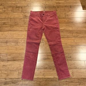 Anne Taylor Loft Medium Rose Color Corduroy Pants